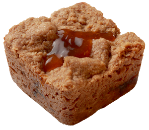 Crumbzz mini apricot crumb cake
